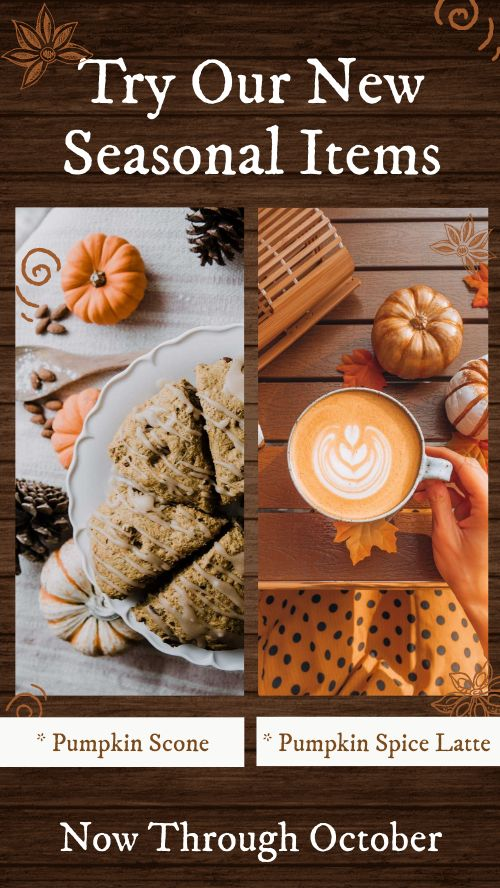 Pumpkin Specials Facebook Story