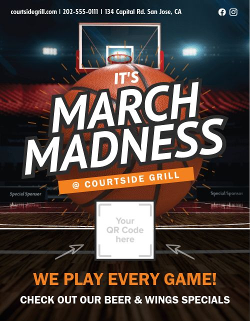 March Madness Signage