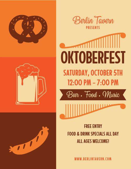 Oktoberfest Day Party Flyer