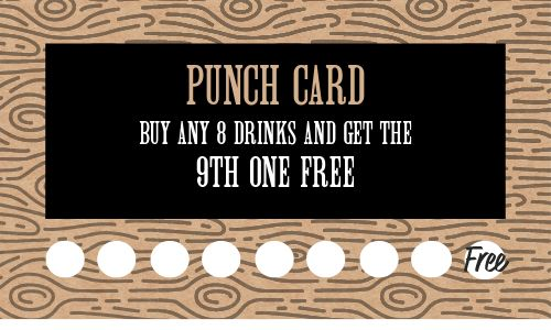 Drinks Loyalty Card