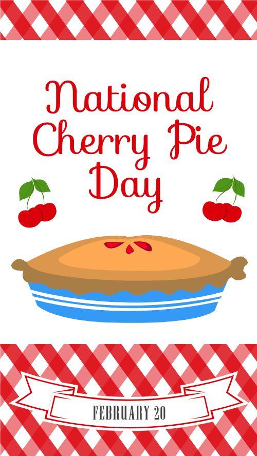 Cherry Pie Day Facebook Story