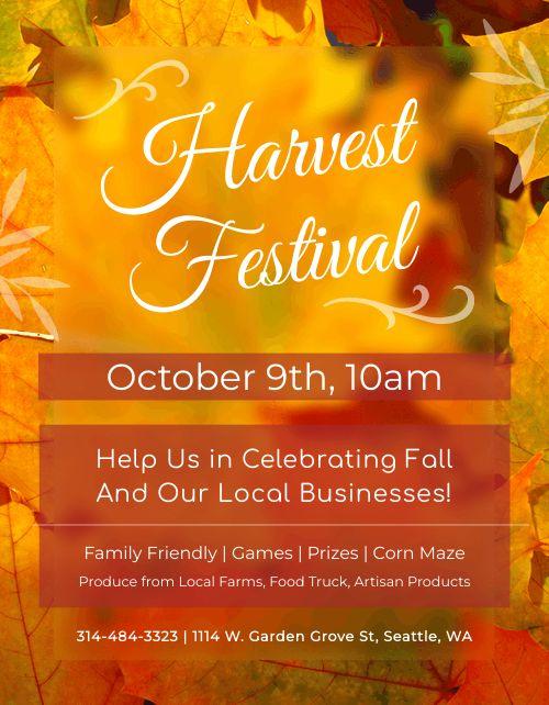 Autumn Event Flyer