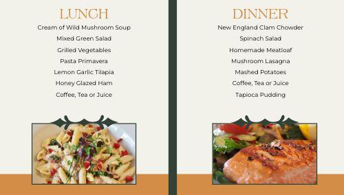Garden Dining Hall Digital Menu Board
