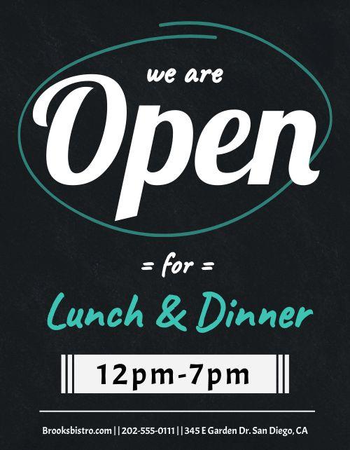 Open Lunch Flyer