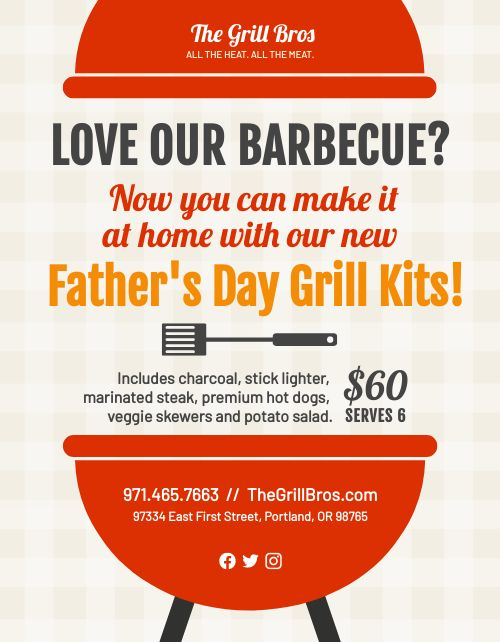 Fathers Day BBQ Signage