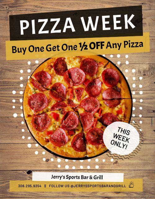 Pizza Week Flyer