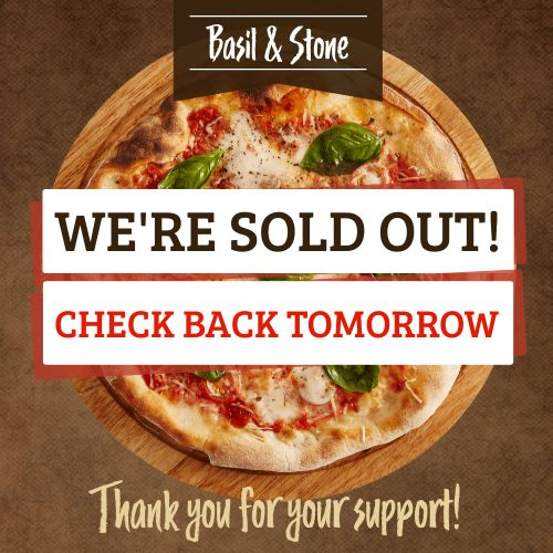 Pizza Sold Out Instagram Post