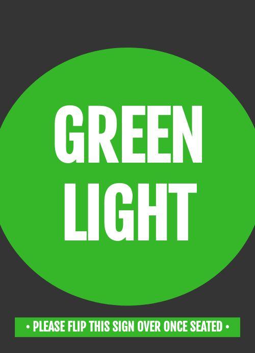 Green Light Tabletop Insert