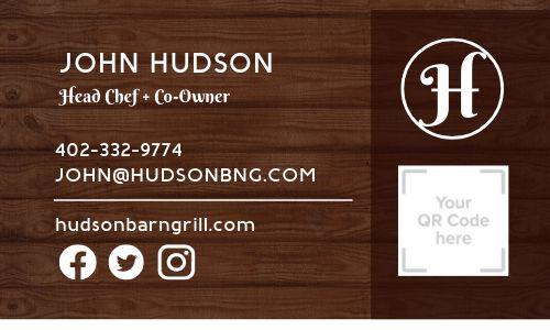 Bar Grill Business Card