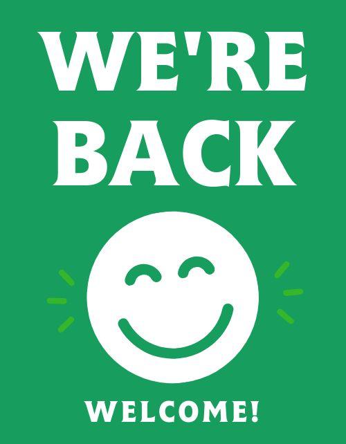 We're Back Flyer