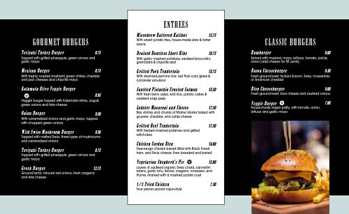 Abstract American Takeout Menu
