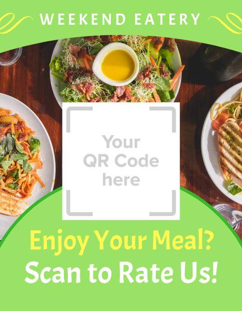 Cafe QR Code Signage