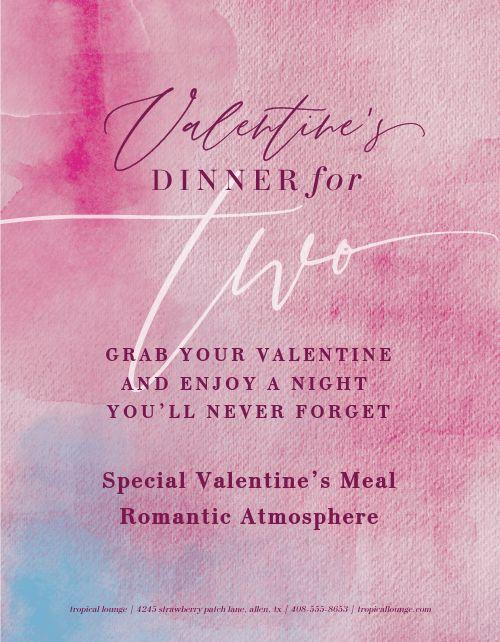 Valentines Day Dinner Flyer