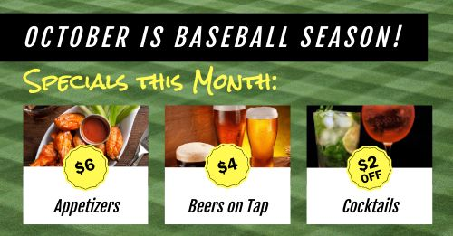Baseball Specials Facebook Post
