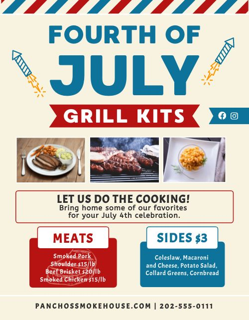 Fourth of July Announcement