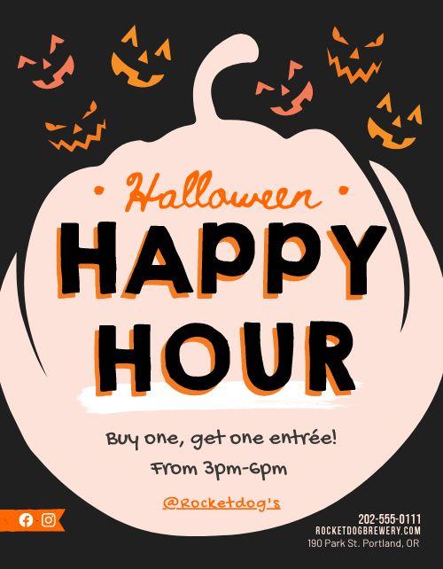 Halloween Happy Hour Flyer