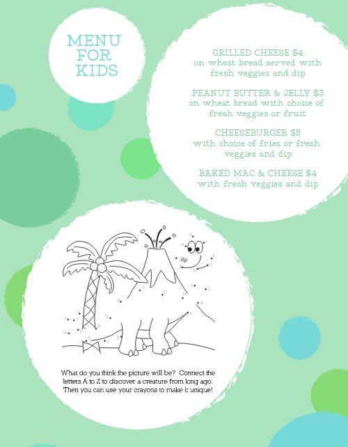 Dots Kids Menu