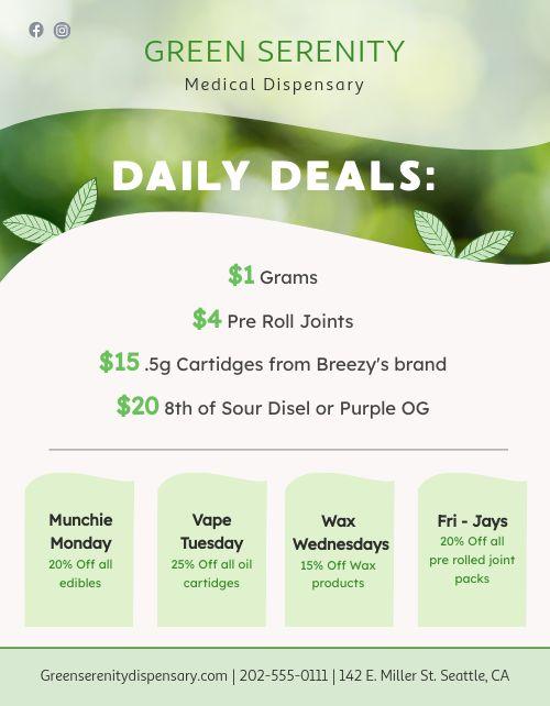 Dispensary Deals Sign