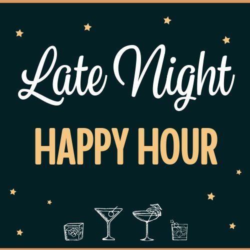 Late Happy Hour Instagram Post