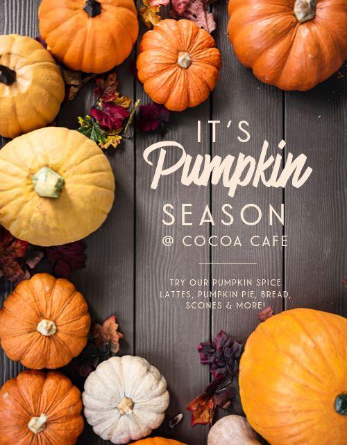 Pumpkin Season Flyer