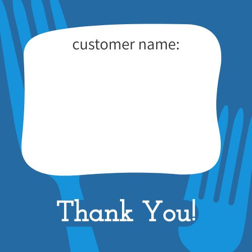 Customer Name Takeout Label
