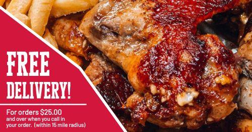 Chicken Delivery Facebook Post