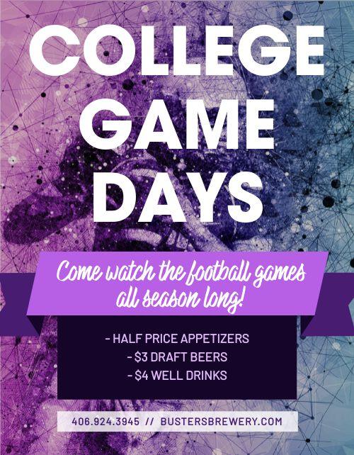 College Football Signage