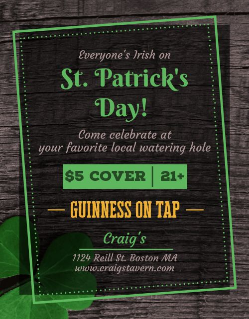St Patricks Bar Flyer