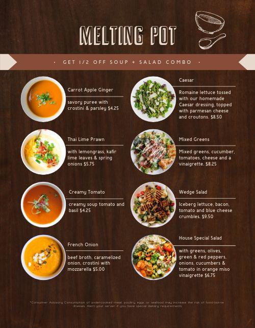 American Soup and Salad Menu