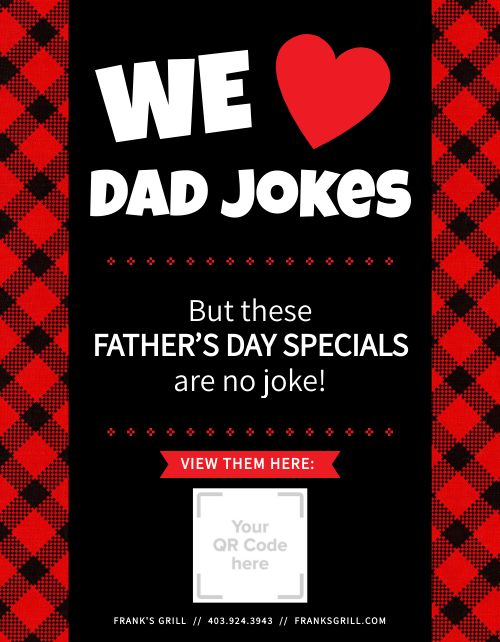 Fathers Day Specials Sign
