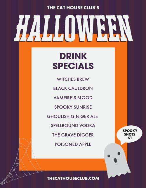 Halloween Drinks Flyer