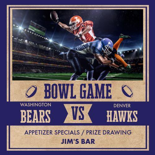 Bowl Game Instagram Post