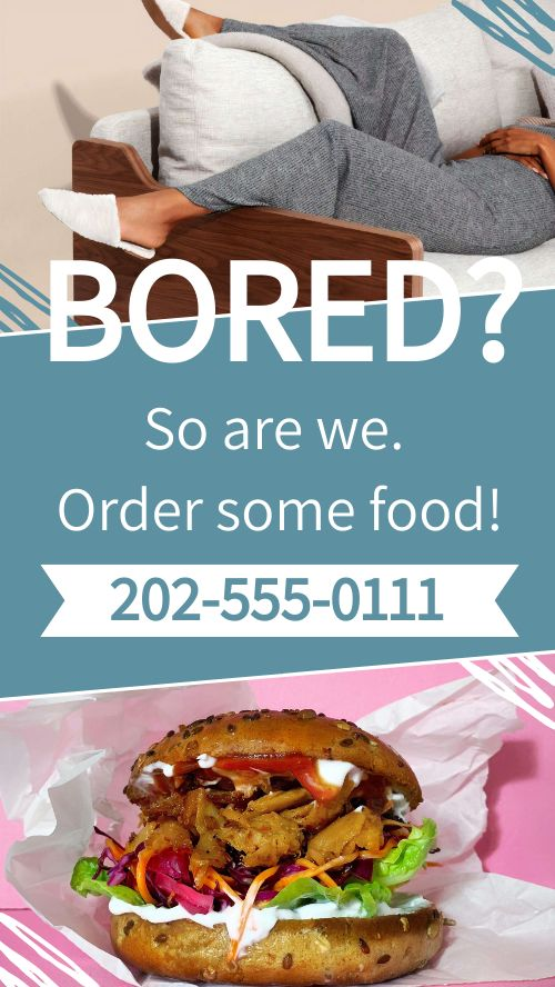 Bored Food Facebook Story