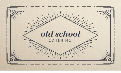 Antique Catering Business Card