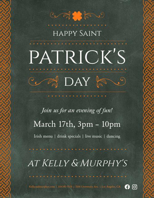 St Patrick's Dinner Flyer