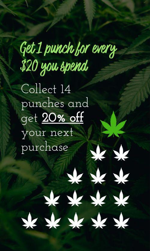Cannabis Punch Card