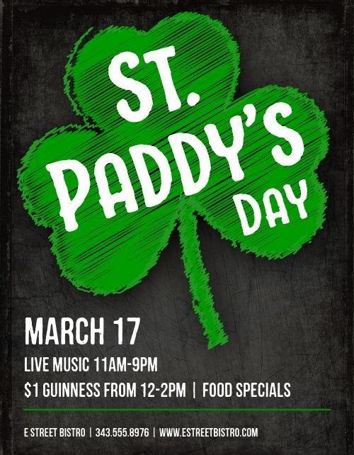 St Paddys Event Flyer