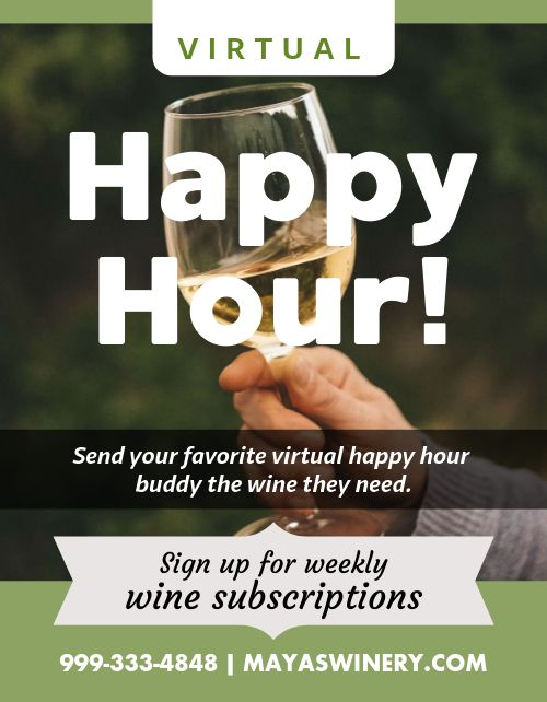 Virtual Happy Hour Flyer