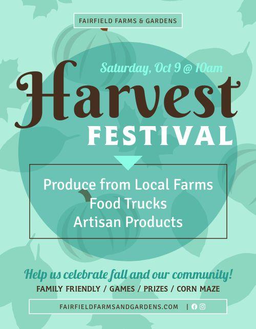 Harvest Festival Sign