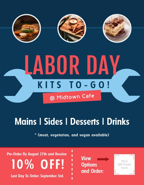 Labor Day Takeout Flyer