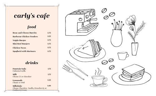 Kids Cafe Menu