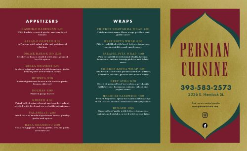 Essential Middle Eastern Takeout Menu
