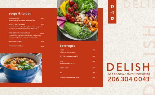 Deli Restaurant Takeout Menu
