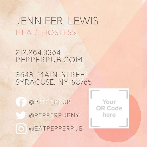 Pub QR Code Business Card