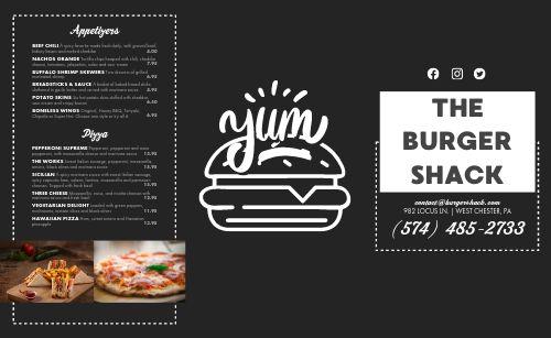 Burger Pizza Takeout Menu