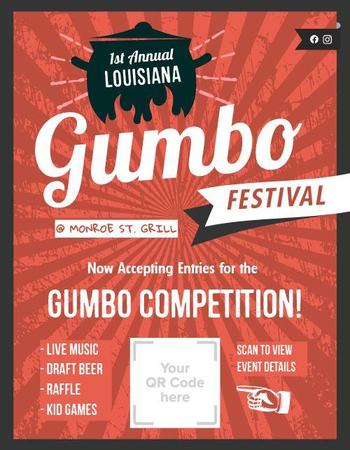 Gumbo Festival Flyer