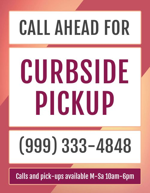 Call for Curbside Pickup Flyer
