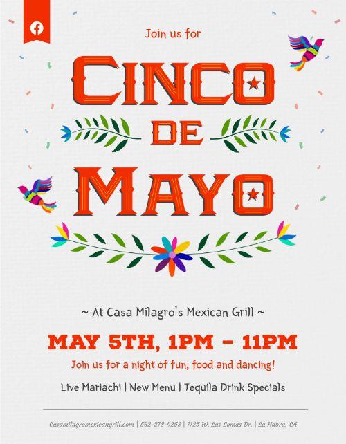 Colorful Cinco De Mayo Flyer