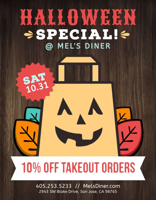 Halloween Takeout Sign