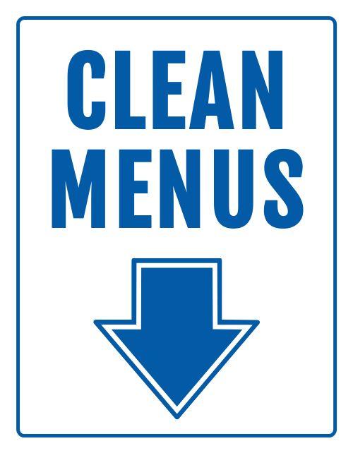Clean Menus Notice